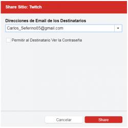 Compartir – Gestor de contraseñas LastPass