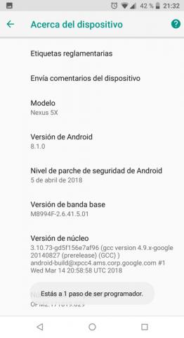 Aparecerá este texto hasta que quede habilitado – Modo desarrollador Android 8.1 | Android Lento: Cómo Solucionarlo de raíz, Fácil y SIN USAR trucos
