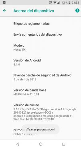 ¡Listo! – Modo desarrollador Android 8.1 | Android Lento: Cómo Solucionarlo de raíz, Fácil y SIN USAR trucos